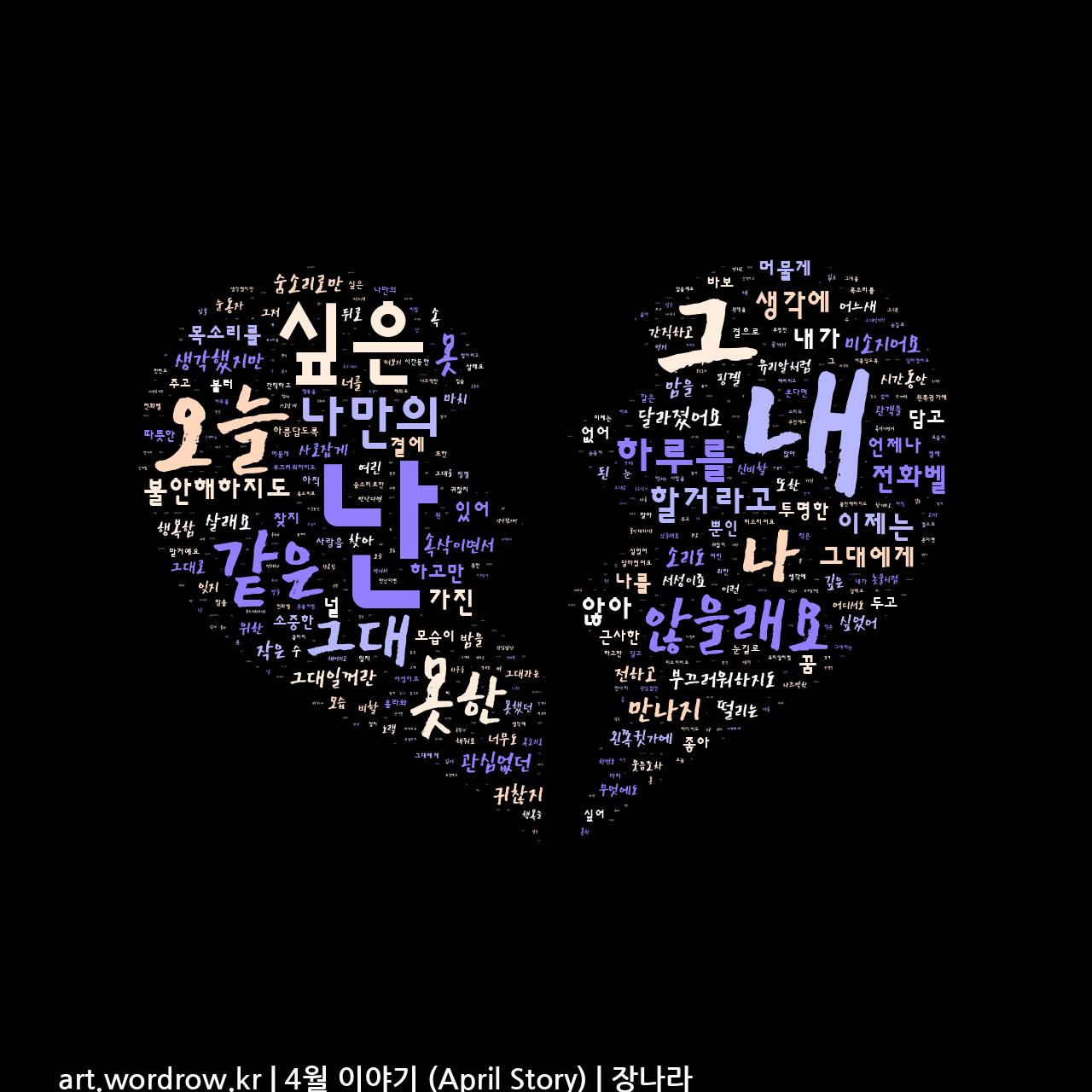 워드 아트: 4월 이야기 (April Story) [장나라]-33
